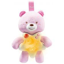 Chicco - Painel Ursinho Boa Noite rosa