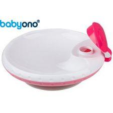 Baby Ono - Taça com ventosa para manter temperatura dos alimentos rosa