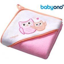 Baby Ono - Toalha de veludo com capuz 100x100 Rosa