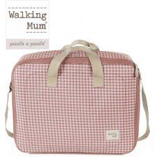 Walking Mum - BOLSA DE MATERNIDADE I LOVE VICHY ROSA