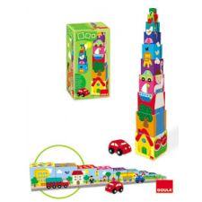 Goula - Cubos empilháveis, carro, 11 peças