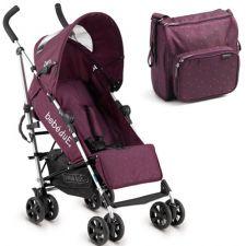 Bebedue - Carrinho de bebé Triangles Purple