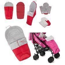 Bebedue - Saco para carrinho de bebé Akon Red