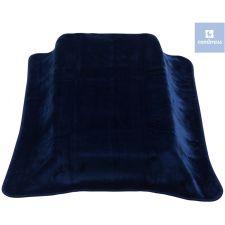 Cambrass - Cobertor de cama de grades BE SOLID, MARINO