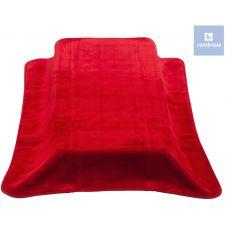 Cambrass - Cobertor de cama de grades BE SOLID, ROJO