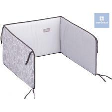 Cambrass - Protetor cama de grades BE LETTERA, GRIS