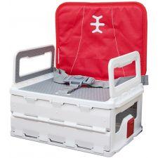 Nikidom - Cadeira portátil Flat Pack Portable Booster Red
