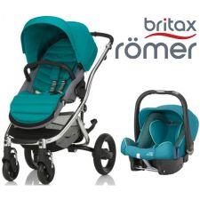 Duo BRITAX RÖMER Affinity 2 + Römer Baby Safe SHR II Green Marble