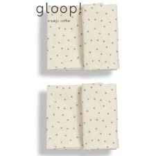 GLOOP - Pack 2 fraldas 50x50cm Natural