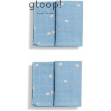 GLOOP - Pack 2 fraldas 50x50cm City Blue