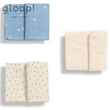 GLOOP - Pack 3 Fraldas Little Stripes / Natural / City Blue
