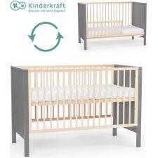 Kinderkraft - Cama de grades convertível MIA Grey