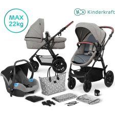 Kinderkraft - Carrinho de bebé Muitipurpose 3 in 1 XMOOV Grey (22 kg)