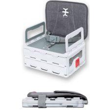 Nikidom - Cadeira portátil Flat Pack Portable Booster Heather Grey