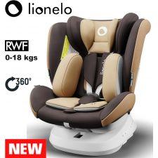 Lionelo - Cadeira auto Bastiaan ONE 360º Isofix (0-36 kg) Beige Chocolate