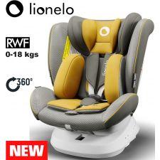 Lionelo - Cadeira auto Bastiaan ONE 360º Isofix (0-36 kg) Yellow Mustard