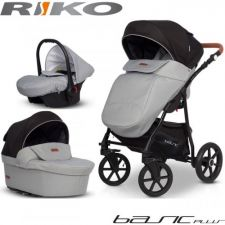 RIKO - Carrinho multifuncional BASIC PLUS + CARLO Grey Fox