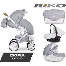 RIKO - Carrinho multifuncional BRANO LUXE + CARLO ISOFIX READY Grey Fox