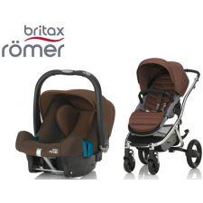 Duo BRITAX RÖMER Affinity 2 + Römer Baby Safe SHR II Wood Brown