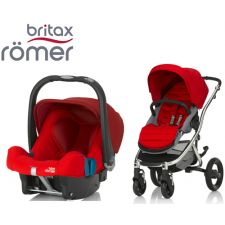 Duo BRITAX RÖMER Affinity 2 + Römer Baby Safe SHR II Flame Red