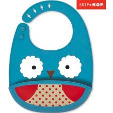 Skip Hop - Babeiro de silicone Zoo Owl